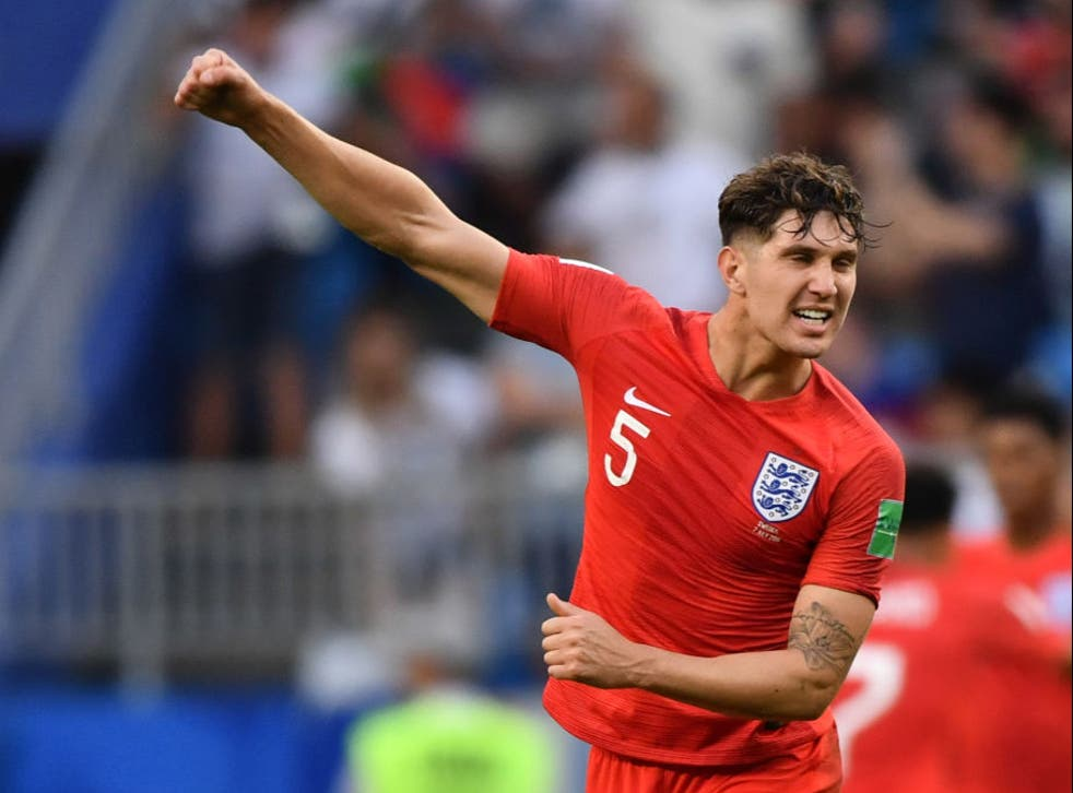 <p>John Stones in action during the 2018 World Cup</p>