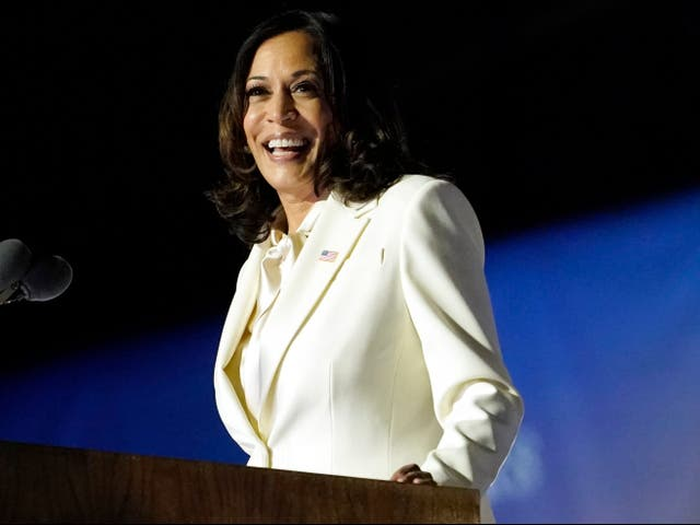 <p>La vicepresidenta electa Kamala Harris habla en Wilmington, Delaware. Harris hará historia el miércoles 20 de enero de 2021, cuando se convierta en la primera afroamericana, del sur de Asia y vicepresidenta femenina.&nbsp;</p>