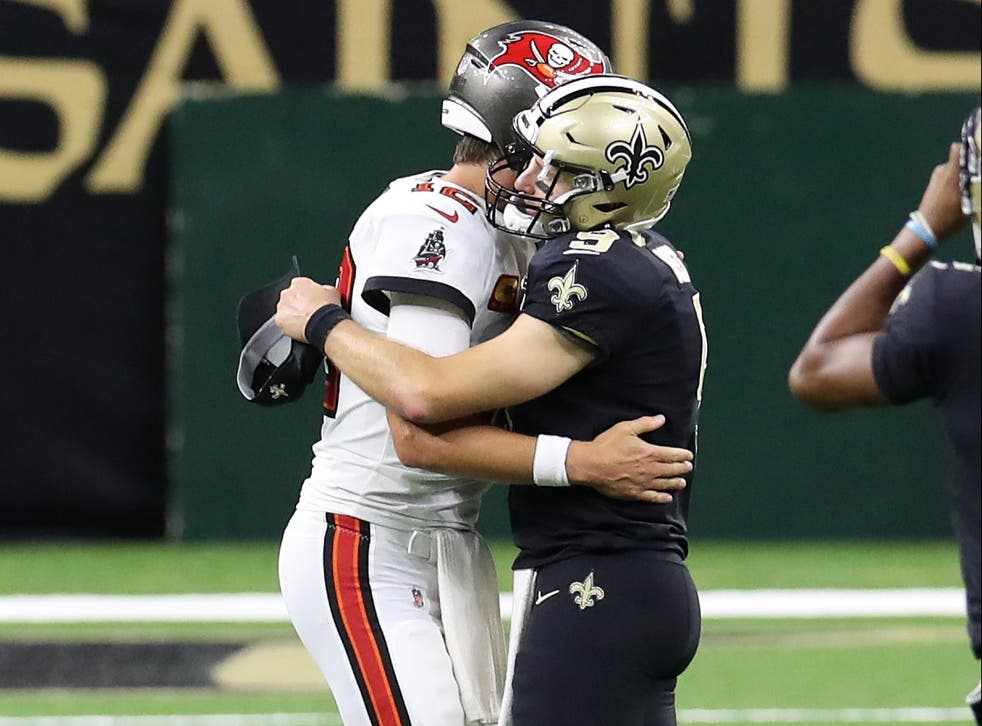 Tom Brady and Drew Brees share touching postgame moment