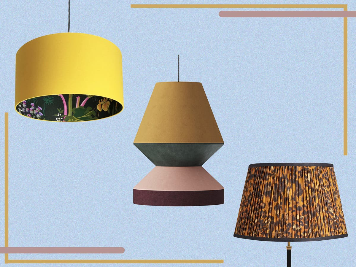 Best Lampshades Rattan Pleated And, Modern Lamp Shades Uk