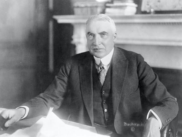 <p>Harding held office for two-and-a-half years before dying at the age of 57</p>