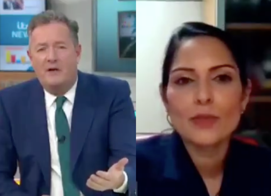 Priti Patel gets grilled by Piers Morgan in 'excruciating' GMB interview