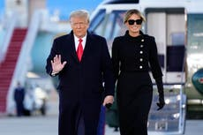 Dressed all in black, Melania says final goodbye to White House
