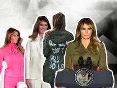 Las 7 veces que Melania Trump pudo enviar un mensaje con su vestimenta