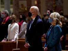 Joe Biden and Kamala Harris sworn in during ceremony – follow live