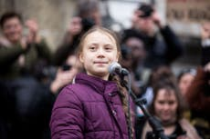 'A very happy old man': Greta Thunberg recycles Trump's mockery of her as he leaves White House for final time