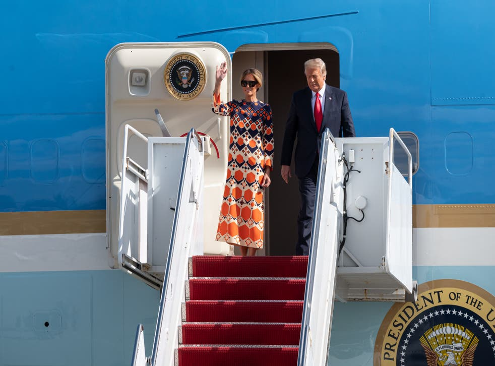 <p>Donald Trump and Melania Trump have been staying at their Mar-a-Lago residence from 20 January</p>