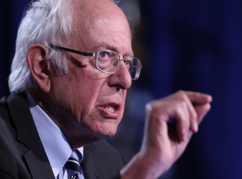 <p>Senator Bernie Sanders, pictured in Washington in September last year, appeared at a rally in Kentucky on Sunday where he criticised Senator Mitch McConnell</p>