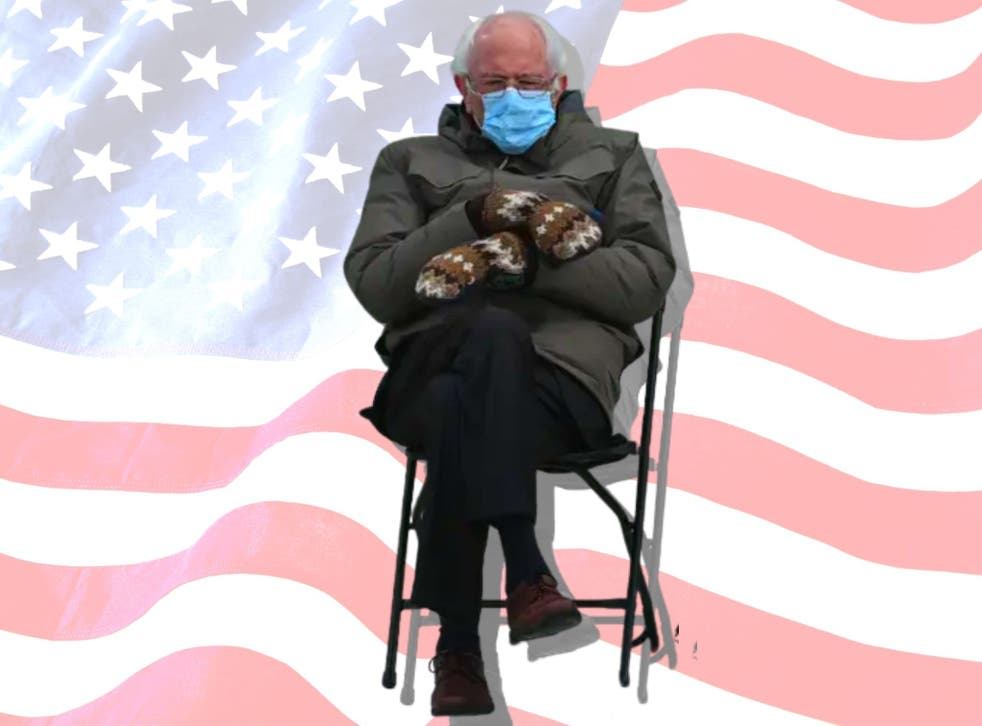 Bernie Sanders inauguration outfit becomes instant meme ...