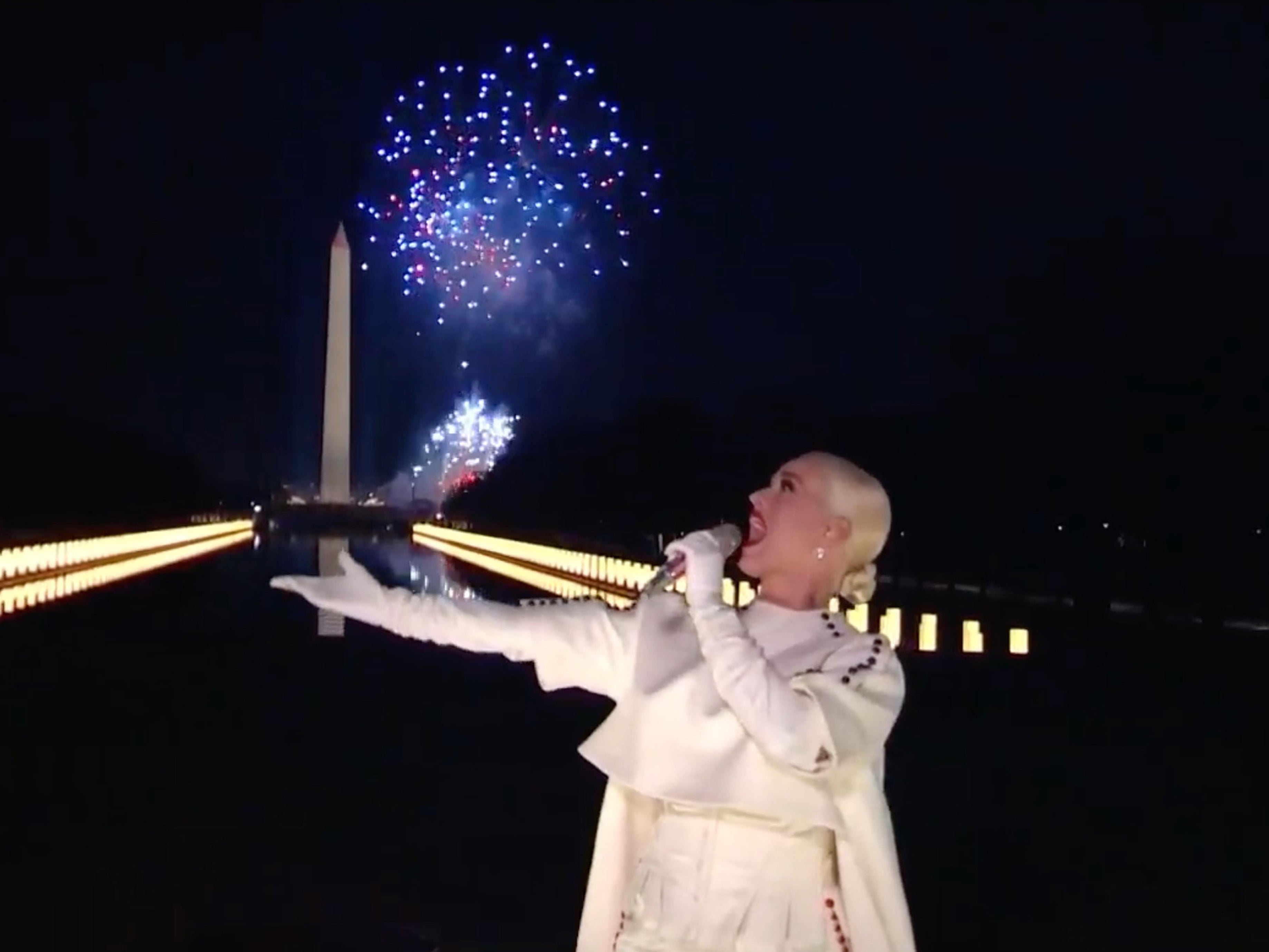 'Katy Perry came and delivered': Singer closes inauguration concert with explosive fireworks display – The Independent