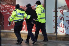Covid-positive officer who policed anti-lockdown rally hospitalised with suspected blood clot