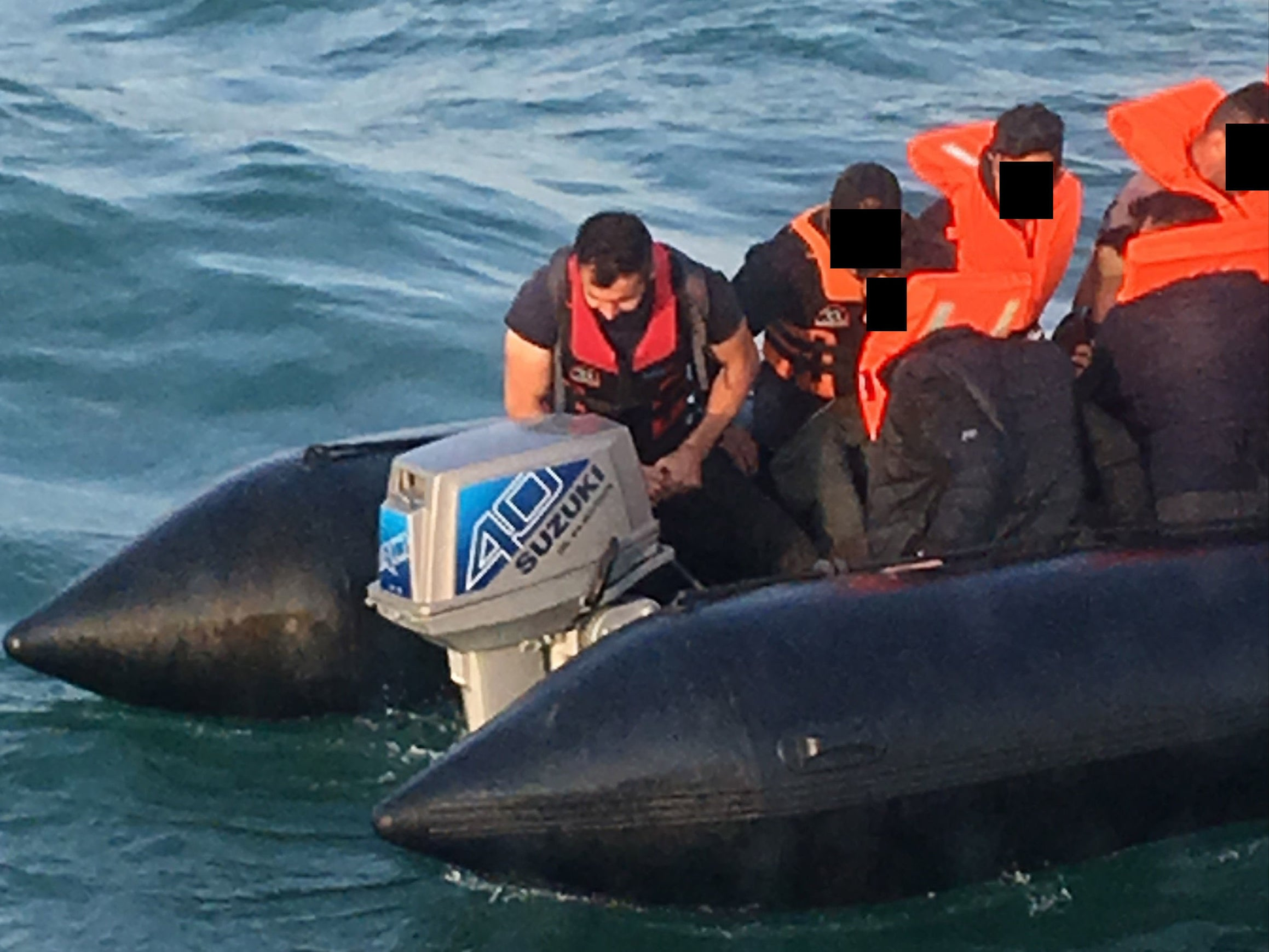 Iranian refugee jailed after being spotted steering two dinghies across English Channel
