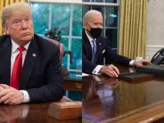 Biden retira el botón rojo de Coca-Cola que Trump tenía en la Casa Blanca