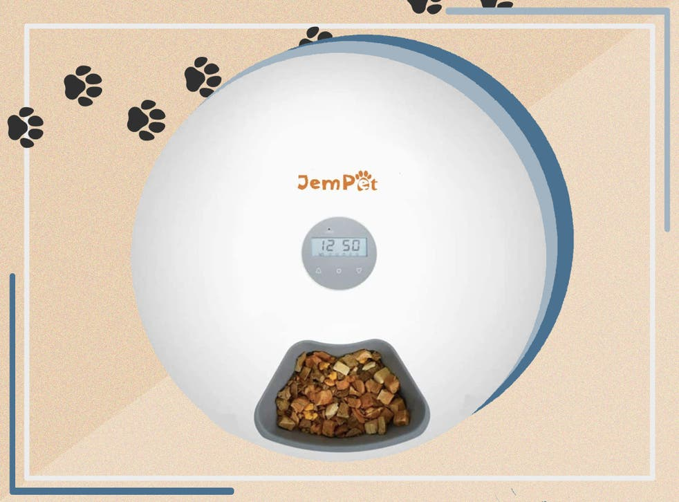 <p>The feeder has a timer so you can schedule when the next meal will be dispensed</p>