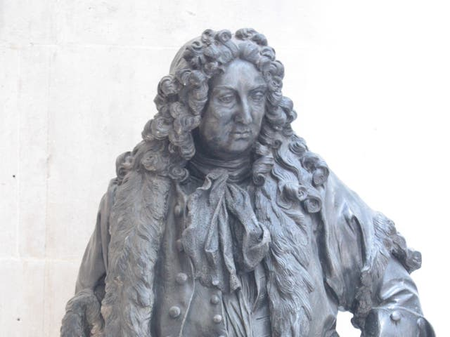 Sir John Gass statue in Guildhall