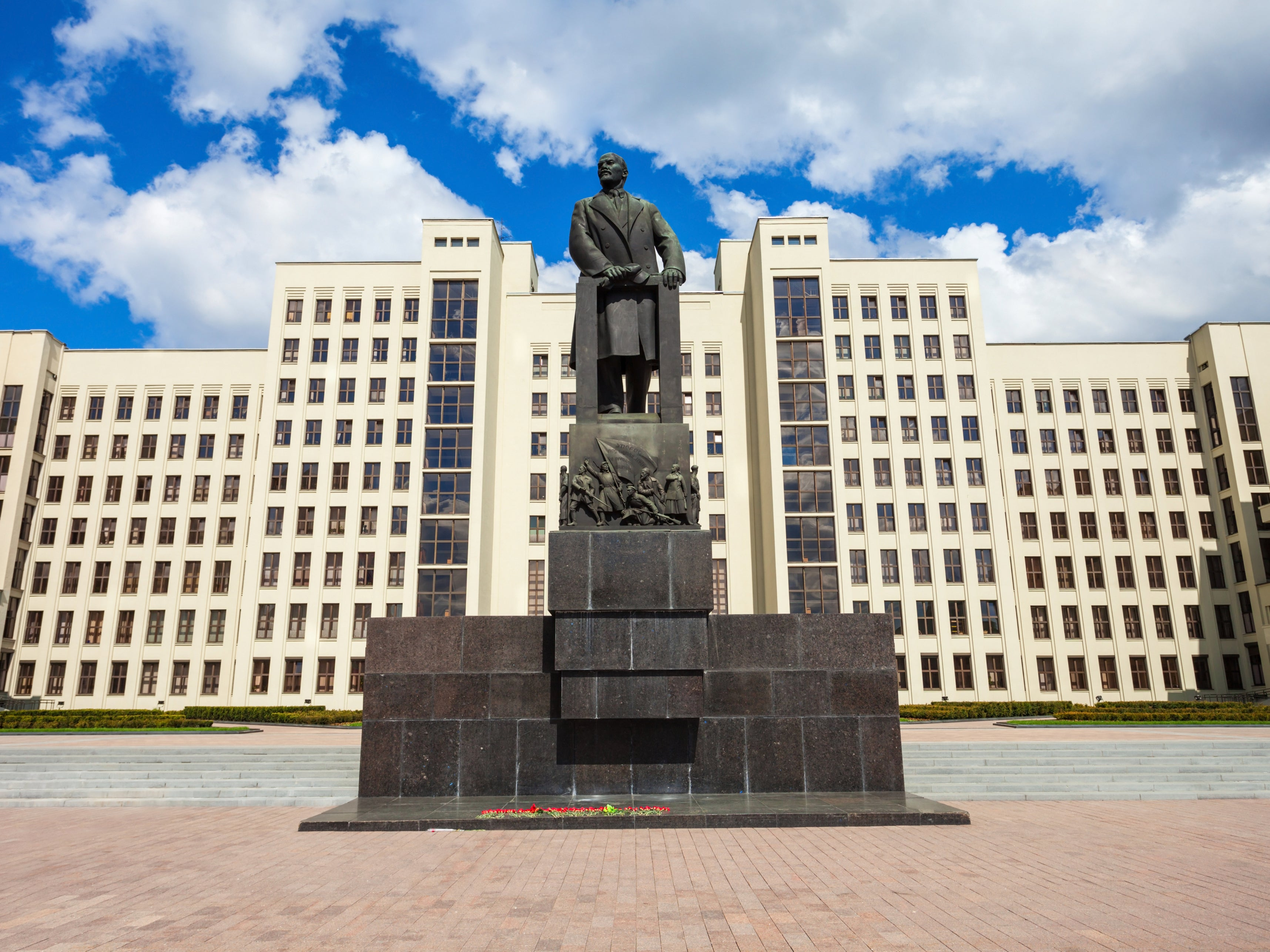 Man sets himself on fire outside government HQ in Belarus - independent