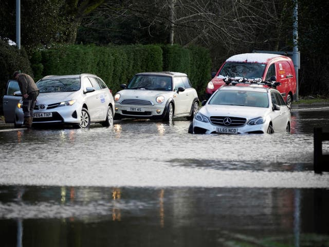 Cars abandoned in Cheshire village of Lymm