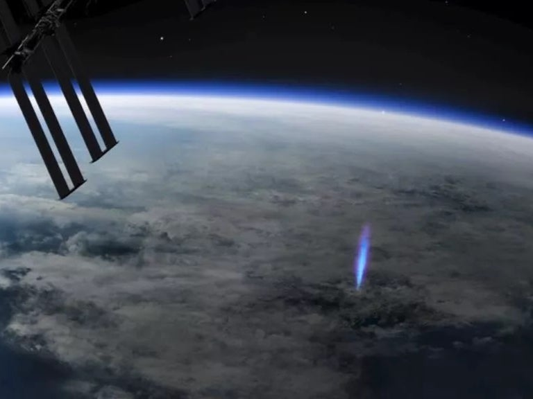'Blue jet' lightning detected from International Space Station
