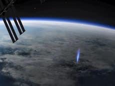 Estación Espacial Internacional captó sorprendentes destellos azules
