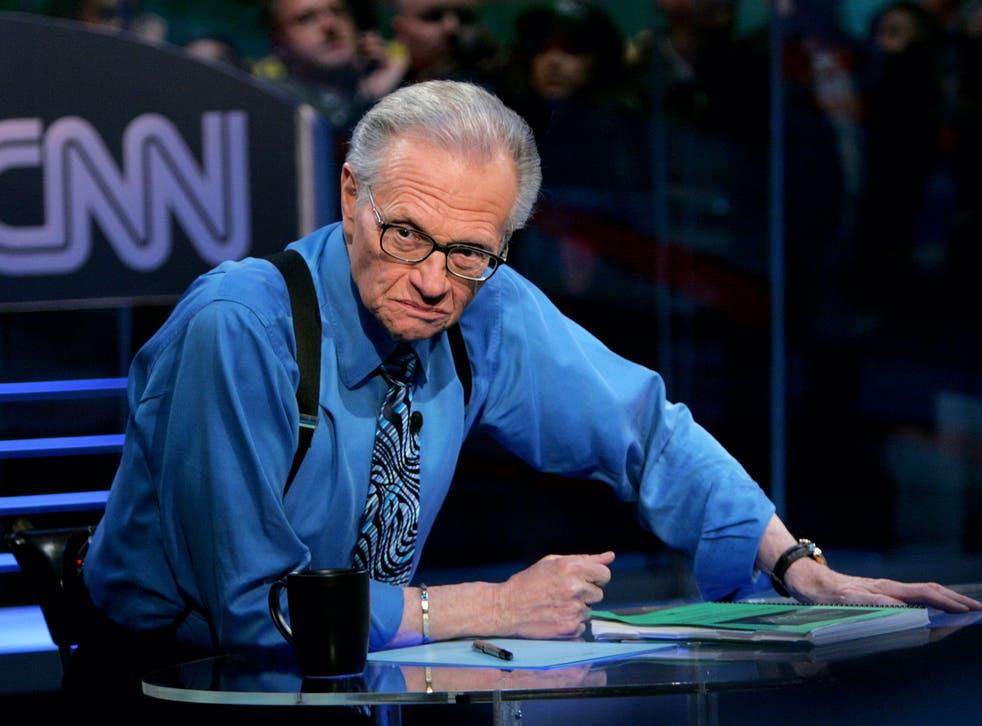 <p>King spent decades at CNN</p>