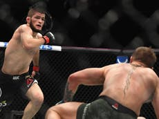 Khabib se burla de Conor McGregor tras su derrota ante Dustin Poirier