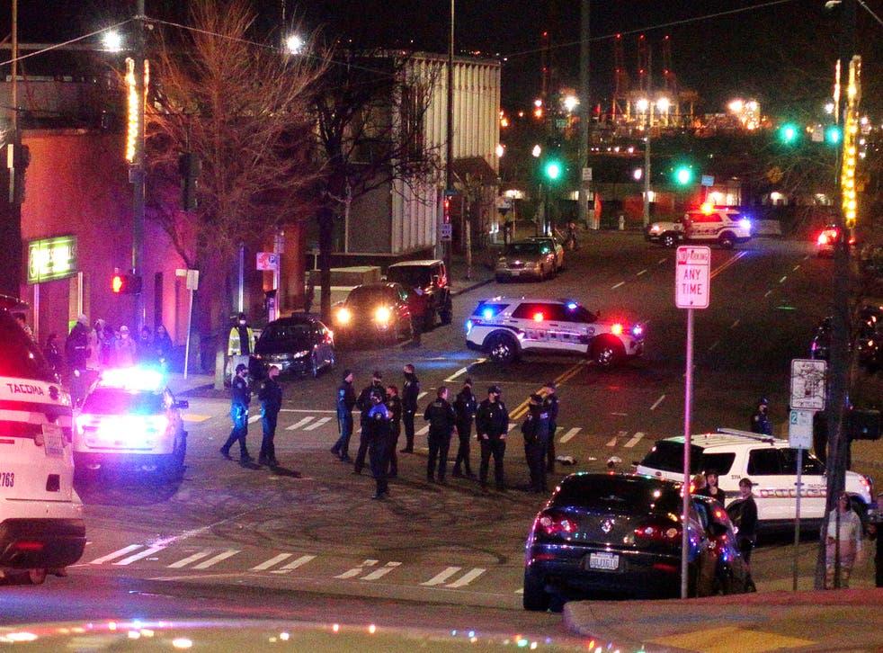 Police Car Hits Pedestrians