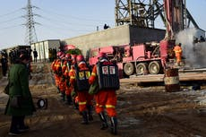 11 rescued after two weeks in underground China mine
