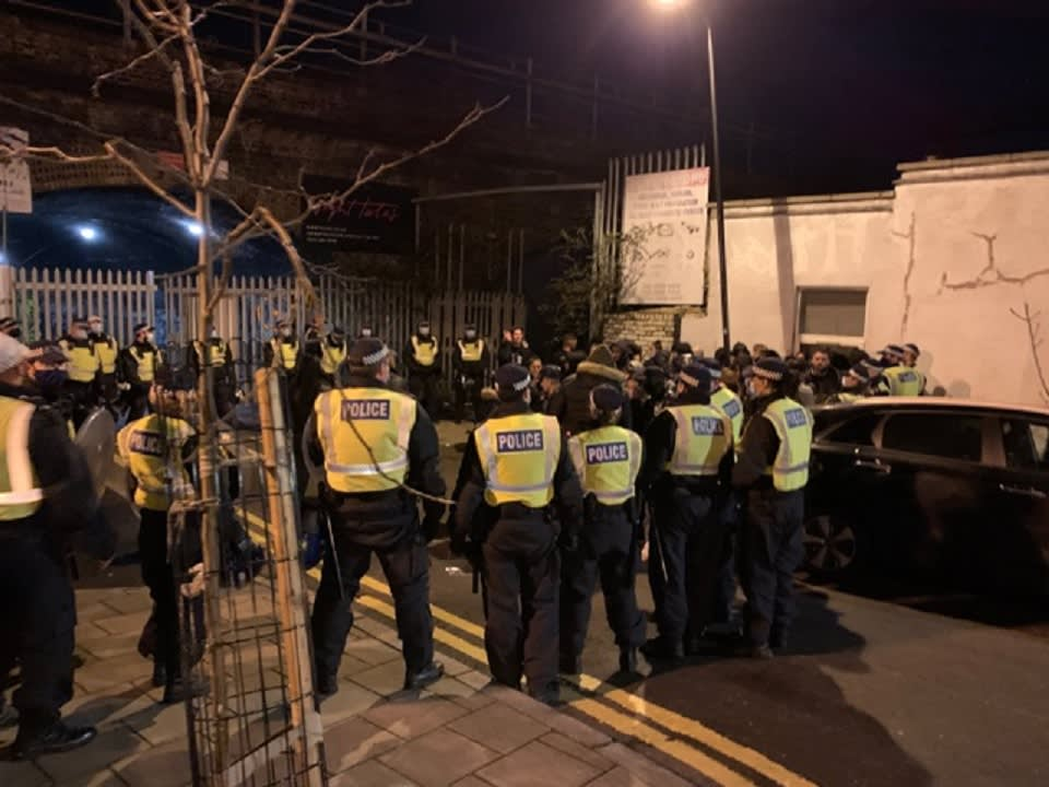 Police break up rave in east London as hundreds defy regulations