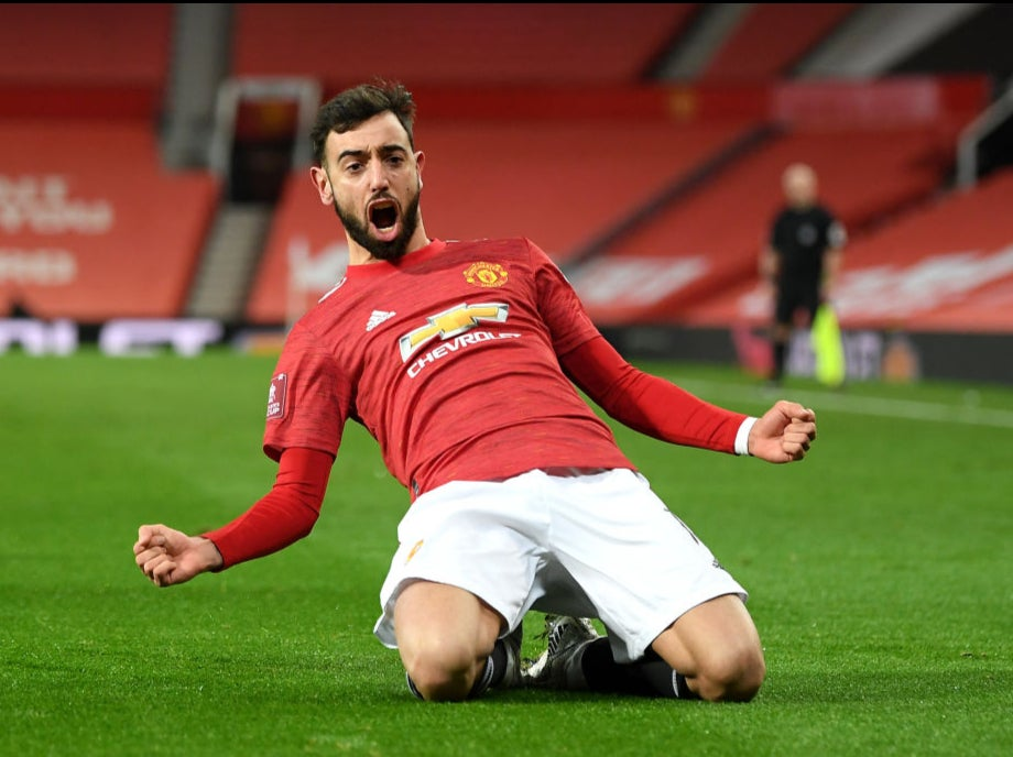 Bruno Fernandes provides knockout blow as Manchester United edge Liverpool in FA Cup thriller