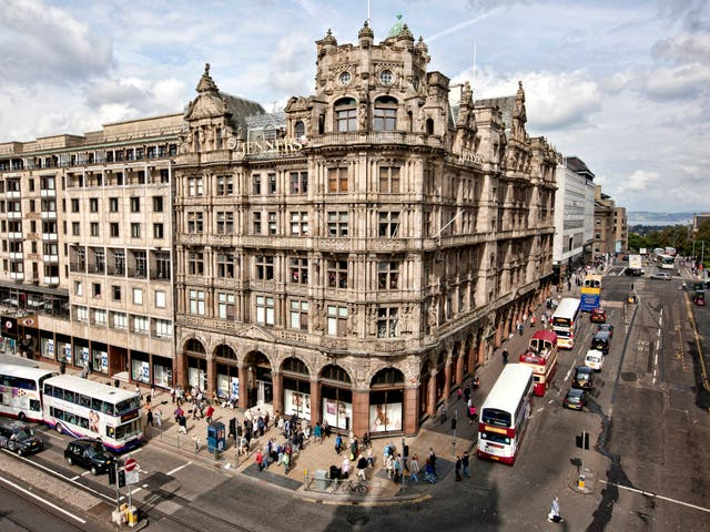 Jenners has stood prominently on Edinburgh's main shopping street since Victorian times