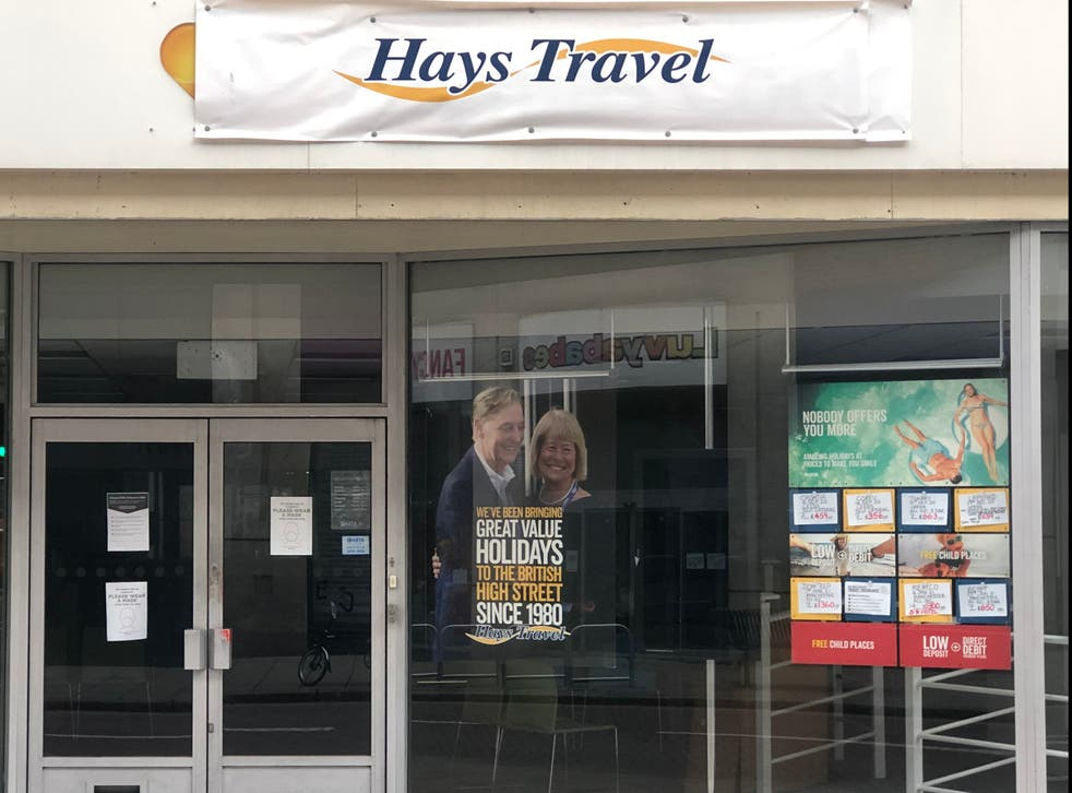 Changing times: a former Thomas Cook agency taken over by Hays Travel