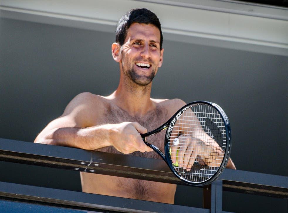 Novak Djokovic in quarantine in Adelaide before the Australian Open