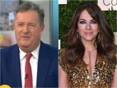 """Piers Morgan dice a Elizabeth Hurley """"sedienta y espeluznante"""" en foto"""