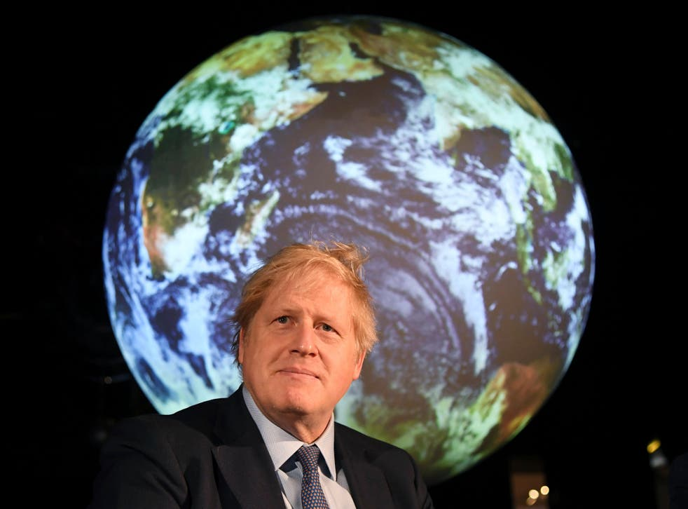<p><i>Boris Johnson launches the UK-hosted Cop26 UN Climate Summit. The government's Environment Bill may have only just become law by November when the summit begins</i></p>