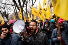 Decenas que apoyan a agricultores indios se manifestaron en Nueva York