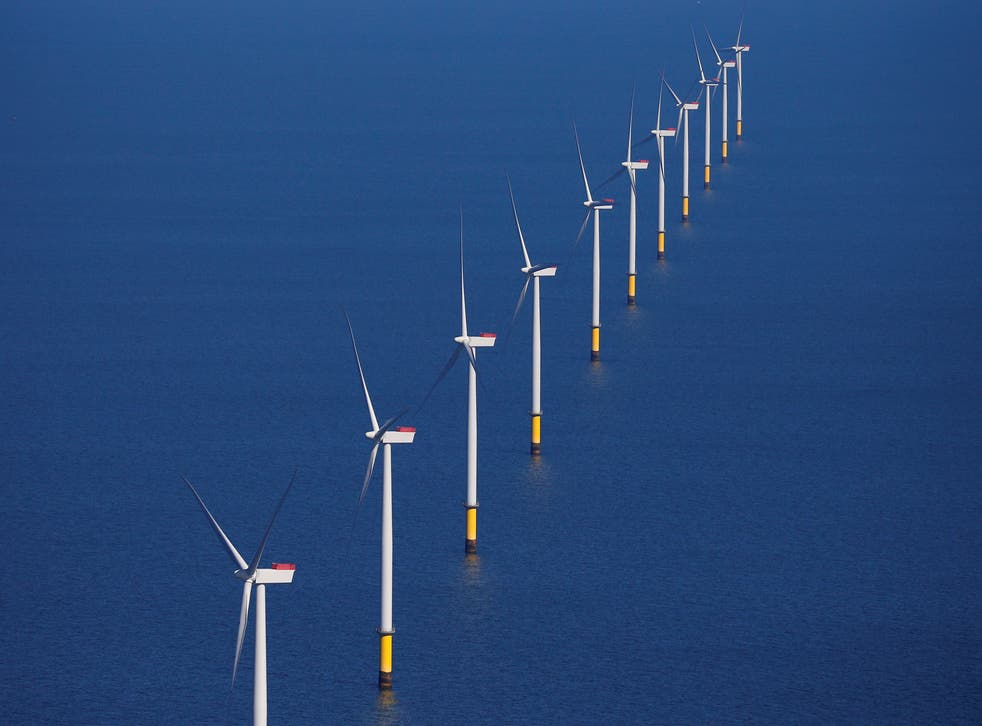 The Walney Extension offshore wind farm off the coast of Blackpool