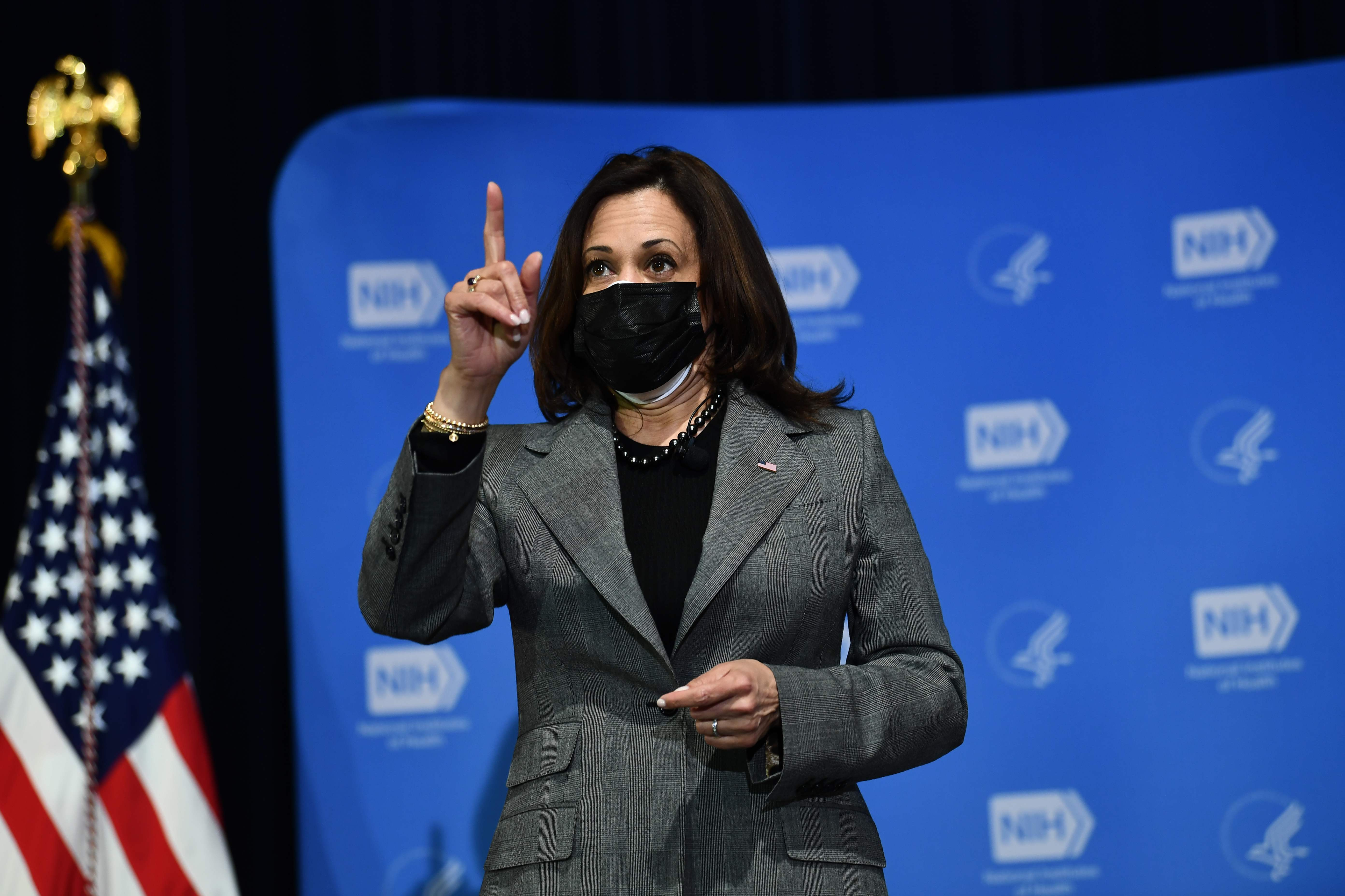 Kamala Harris says first job was cleaning mother's research lab equipment