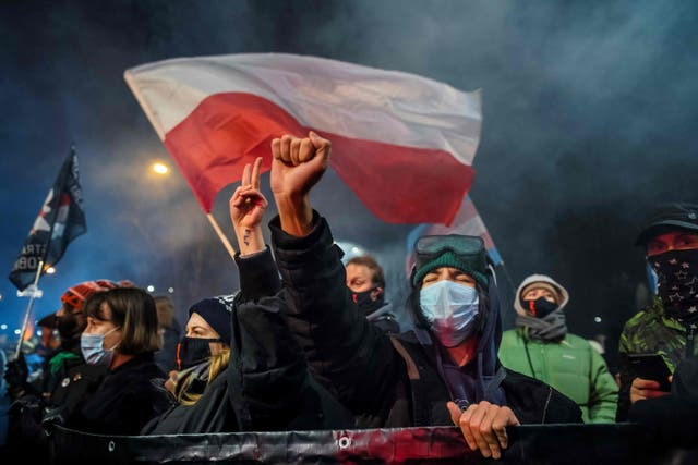 <p>The ruling has sparked a wave of mass protests across the country &nbsp;</p>