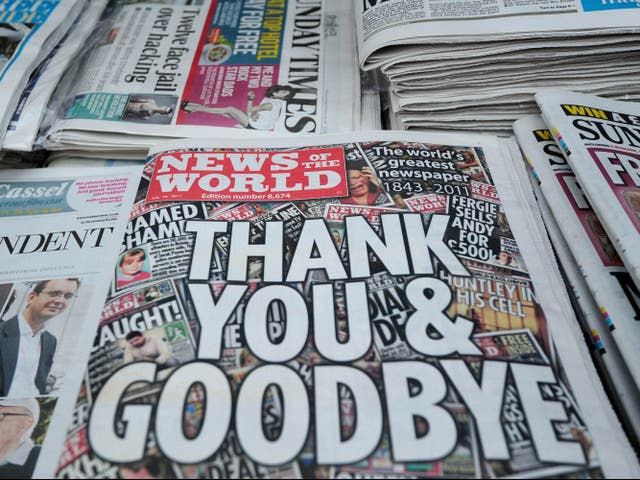 The final edition of the News of the World, following its closure amid the 2011 phone hacking scandal