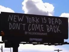 Publicidad critica abandono de la ciudad de NY durante la pandemia