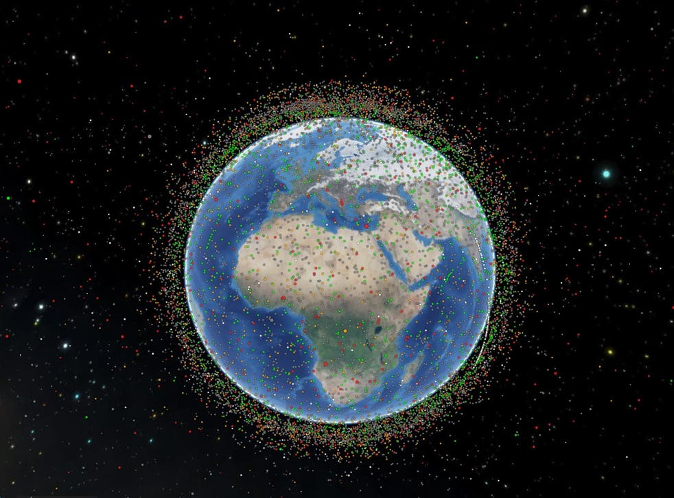 A visual representation of satellites tracked by Celestrak as of 30 January, 2021