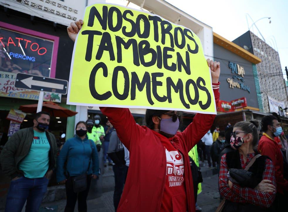 CORONAVIRUS-COLOMBIA PROTESTA