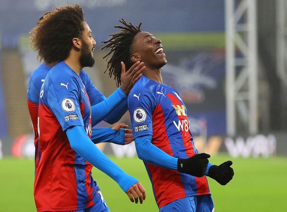 Eze celebrates for Crystal Palace