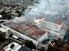 Evacuaron a 350 pacientes tras incendio en hospital de Chile