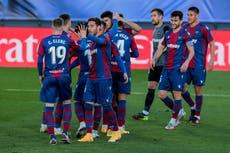 Real Madrid tropieza sorpresivamente ante Levante en LaLiga