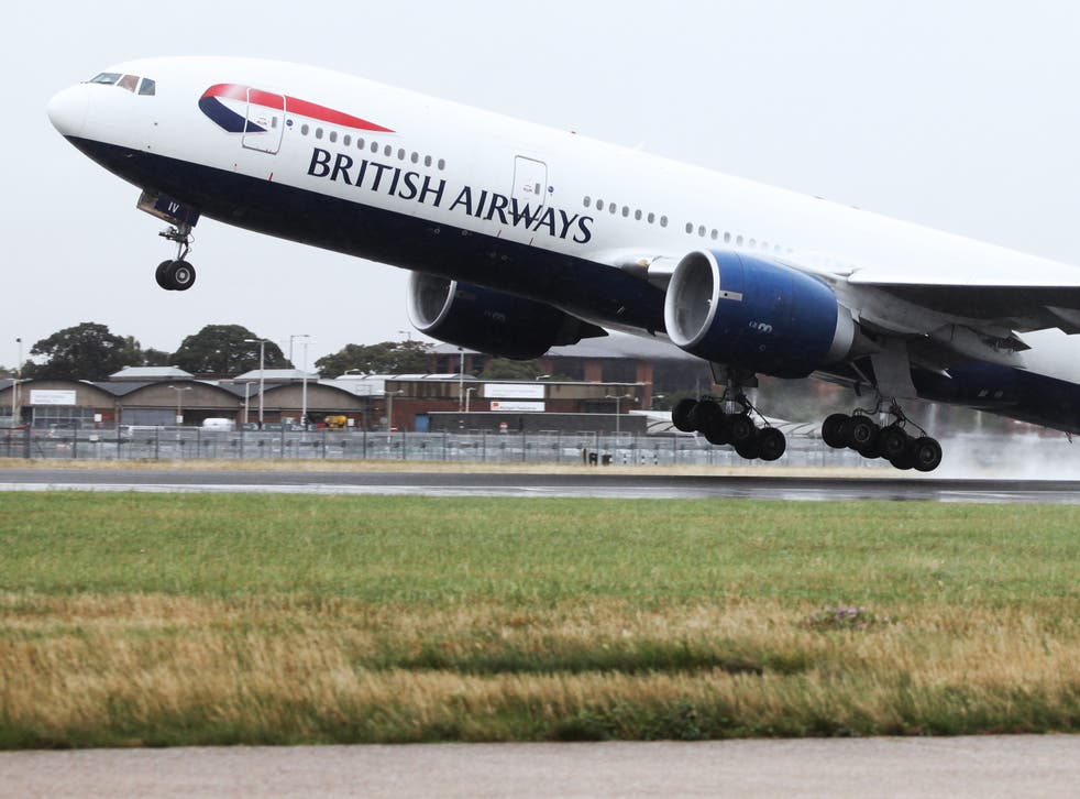 Fast track: British Airways Boeing 777 taking off at Heathrow,