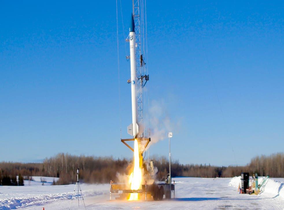 Rocket Launch-Maine