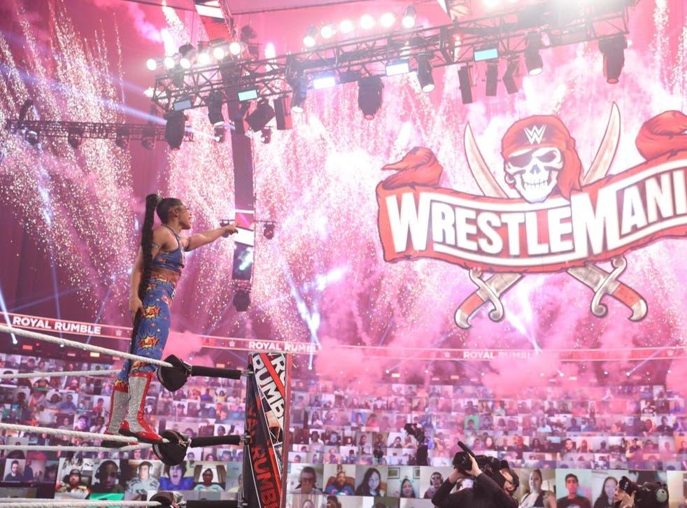 <p>Bianca Belair wins the women's Royal Rumble</p>
