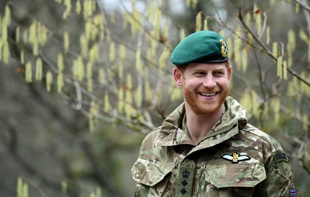 <p>The Duke of Sussex on a visit to 42 Commando Royal Marines at their base in Bickleigh in 2019</p>