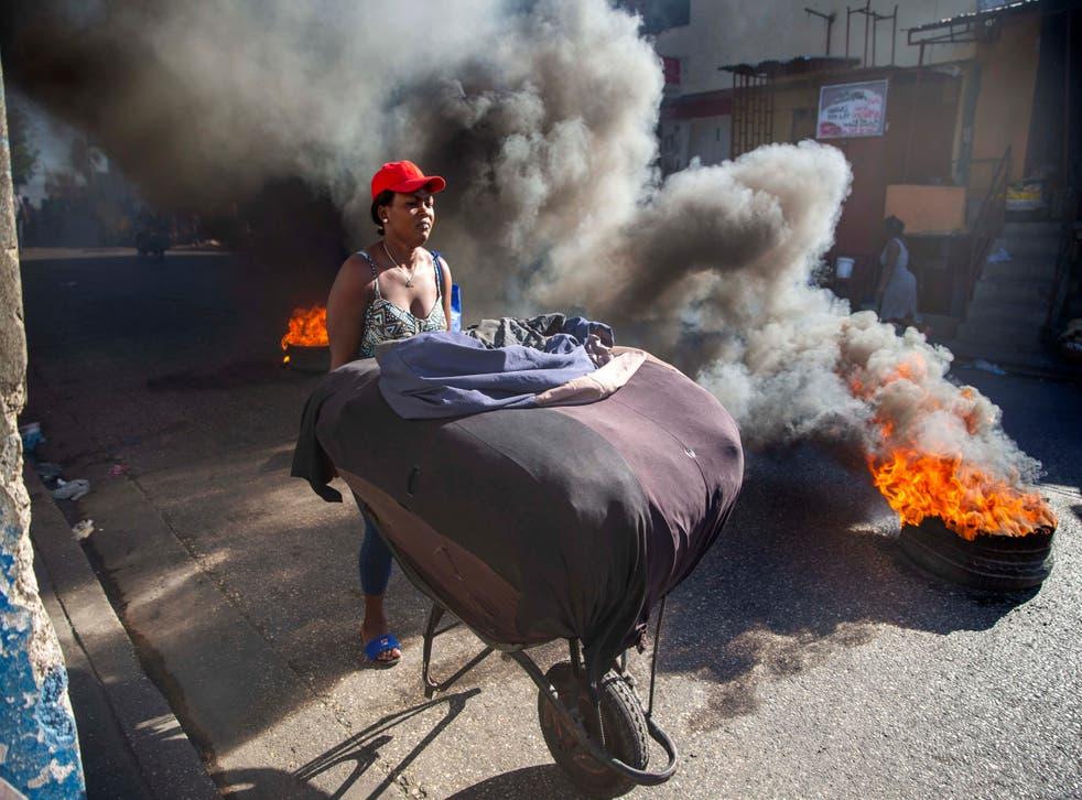 APTOPIX Haiti Strike